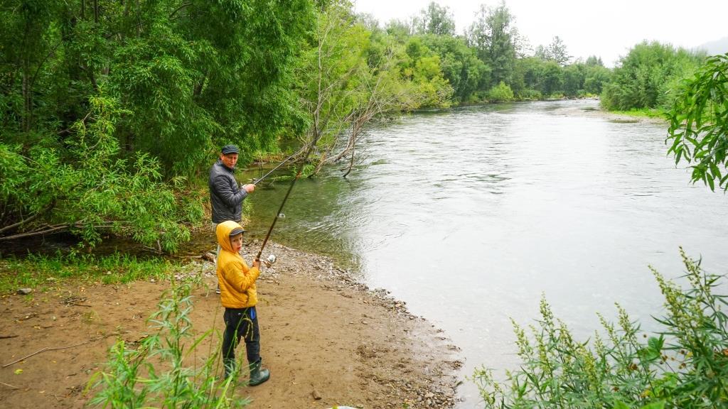 рыбалка на реке Паратунка
